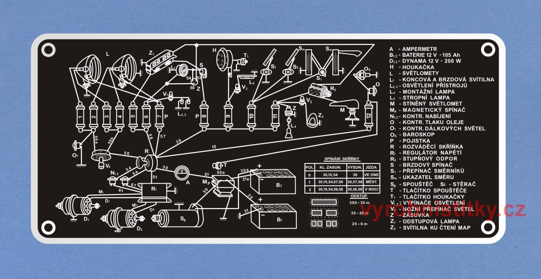 Vyrobni Stitek Schema Zapojeni Elektroinstalace Tatra 111 Buchta